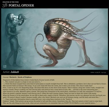 ConceptArt.org Creature of the Week, Portal Opener