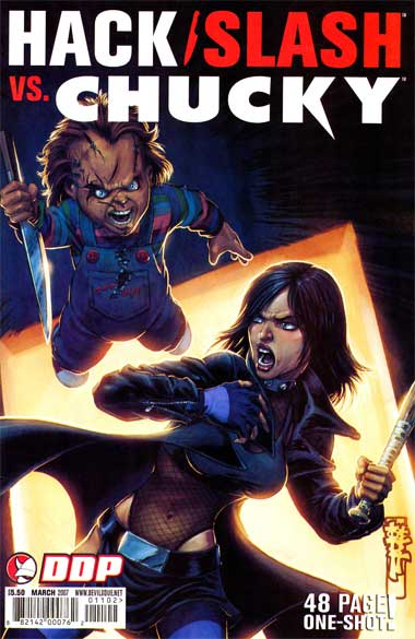 Hack/Slash vs Chucky Cover