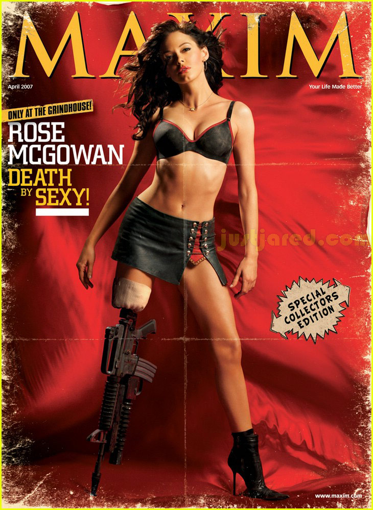 Rose McGowan, Grindhouse Maxim Cover