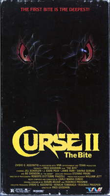 VHS for The Curse II: The Bite