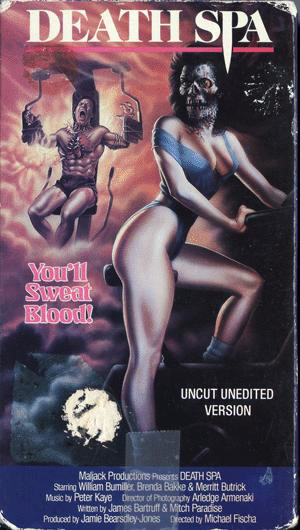 VHS cover for Death Spa