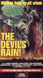 devil's rain video treasures vhs front