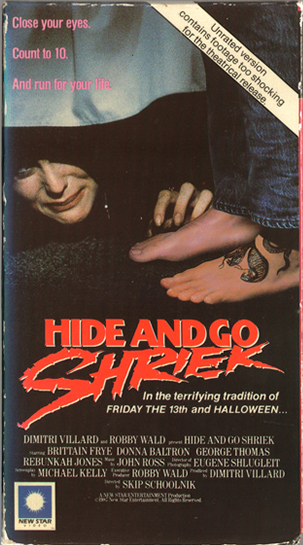 VHS box for Hide and Go Shriek