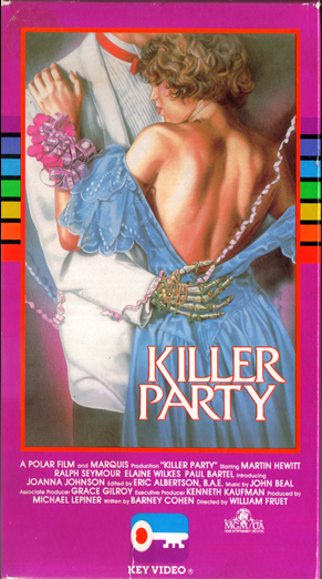 Killer Party VHS