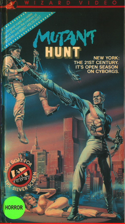 VHS cover of Mutant Hunt
