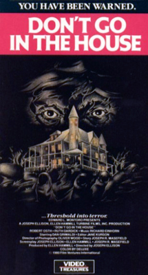 VHS cover for Don't Go in the House
